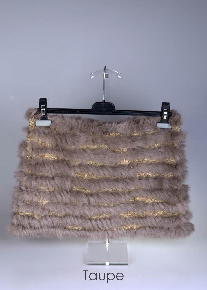 Bolero col uit gebreid bont van het merk insolita moda by viabologna - Taupe en grijs ...