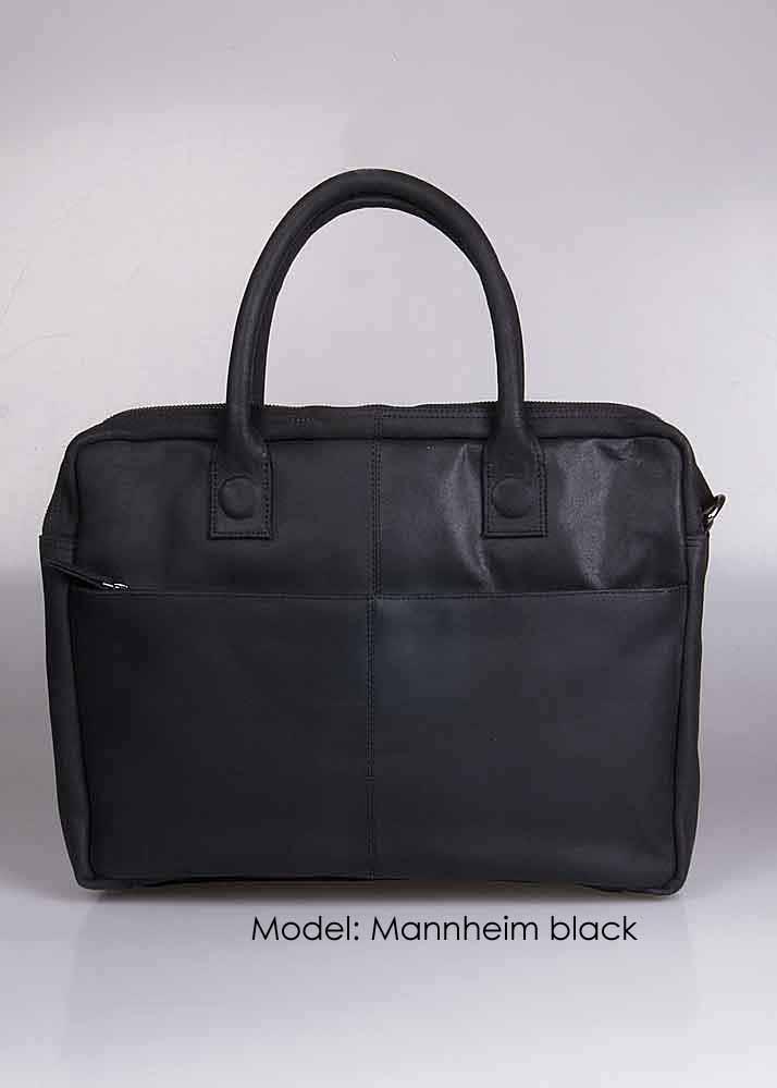 "Leren 15,6 "" laptop tas model ""Mannheim"""