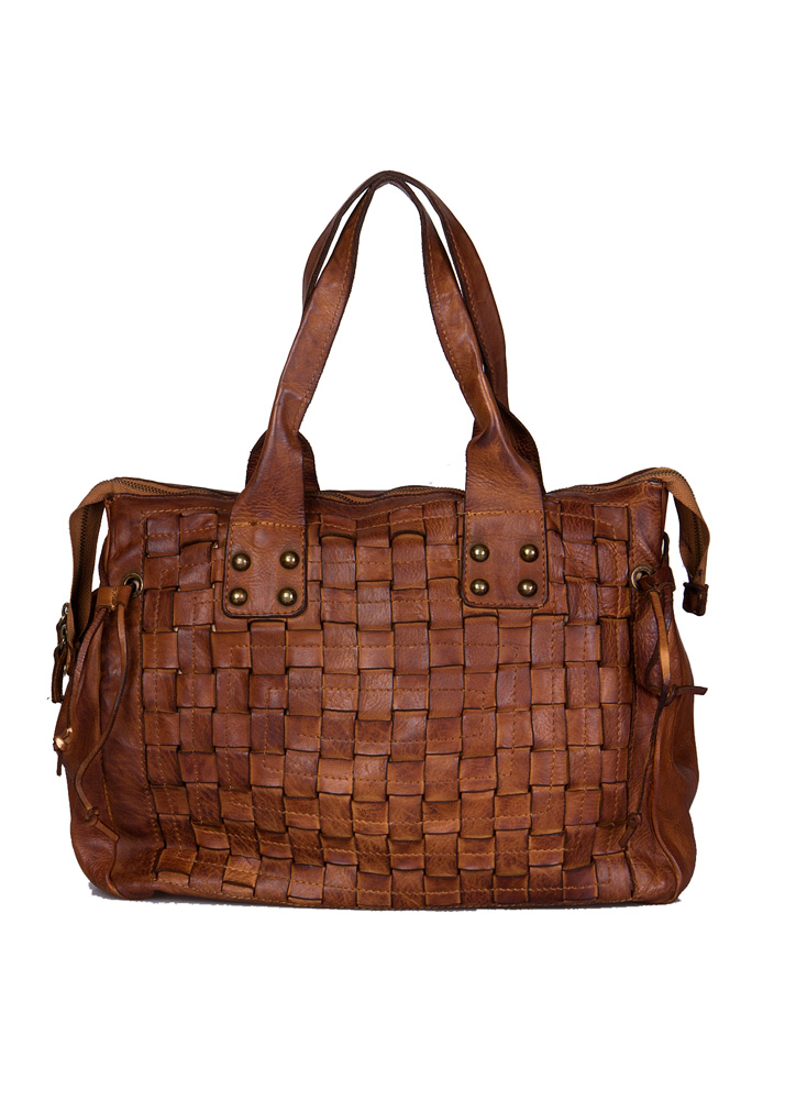 Vintage Republic leren shopper model Catania