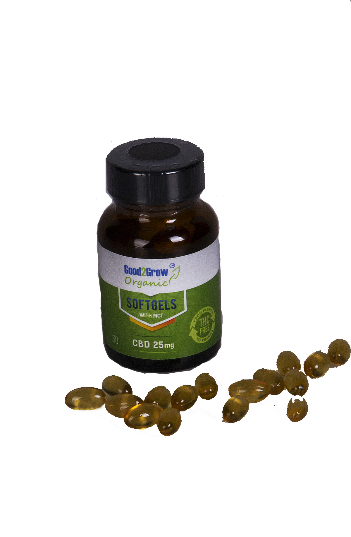 CBD Gelcaps 10 mg en 25 mg CBD per capsule