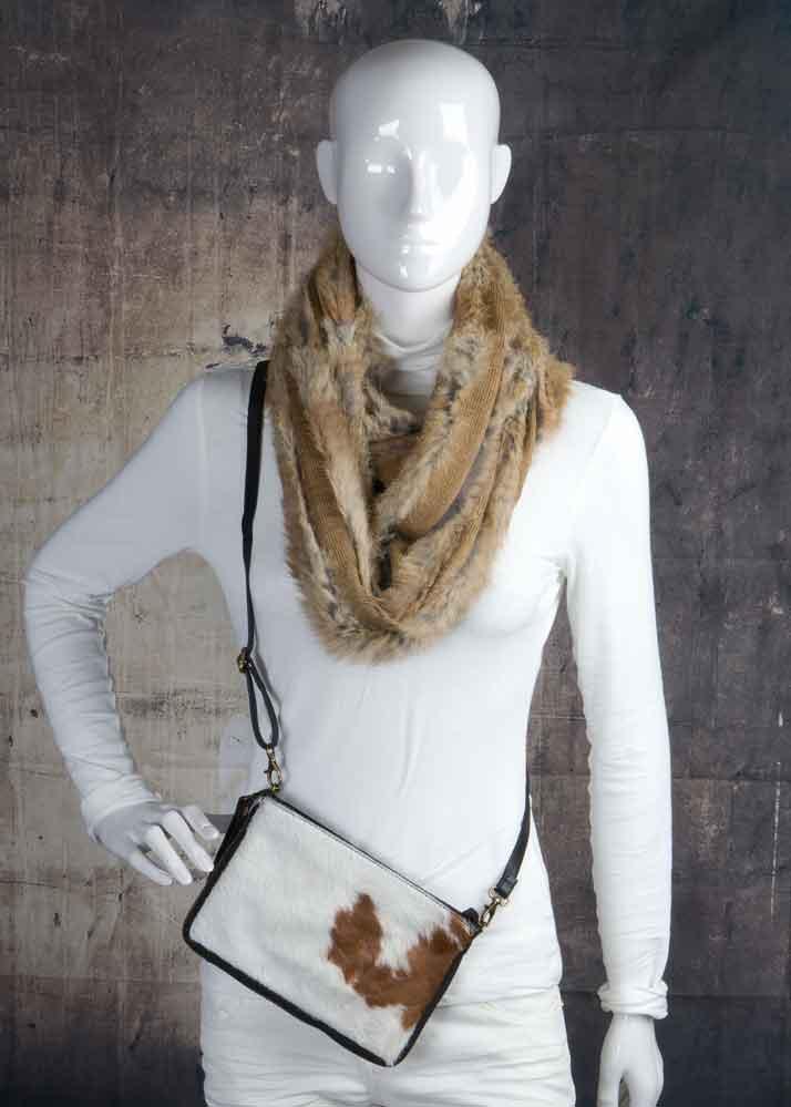 Ronde sjaal/kraag in 2 kleuren