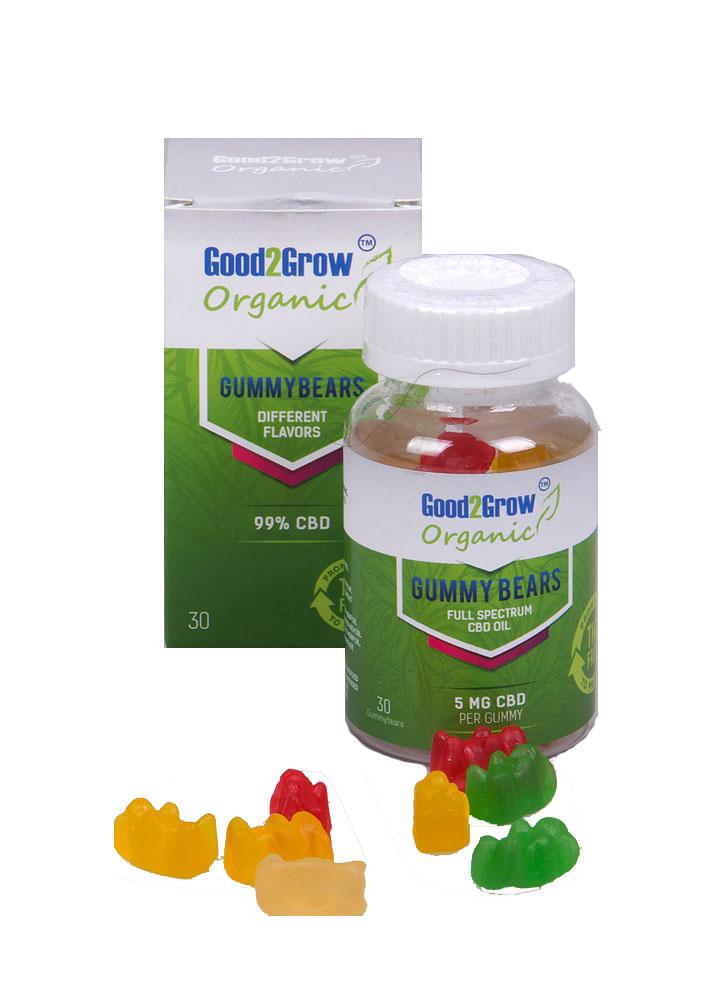 CBD Gummy beertjes 5 potjes met 20% korting